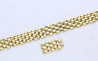 Bracelet in 750 thousandths gold, grain of rice...