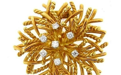 CHIC Tiffany & Co. 18k Yellow Gold & Diamond Pin Circa