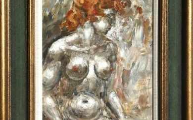 Charles Burdick, Nude (Red Hair), Oil Painting