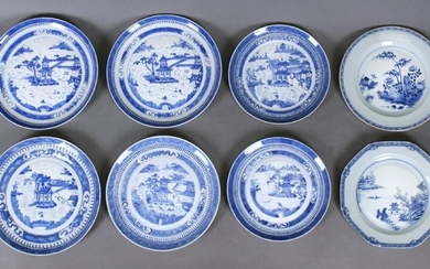 Chinese Blue & White Ware: Plates (18th - 20th Century)