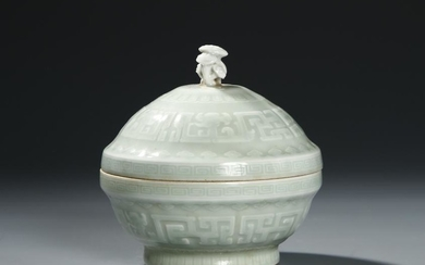 Chinese Celadon Glazed Box with Cover