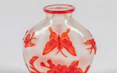 Chinese Overlay Glass Snuff Bottle