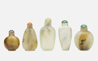 Chinese, agate and jade snuff bottles