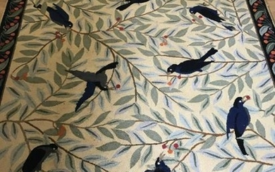Contemporary American Country Style Bird Motif Rug