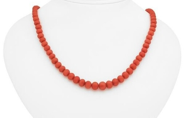 Coral necklace with sprin