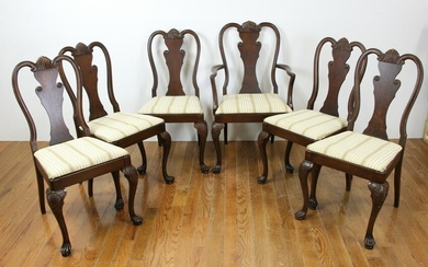 Custom Queen Anne Style Dining Chairs