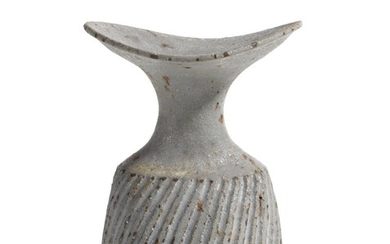 DAME LUCIE RIE   VASE WITH FLUTED BODY