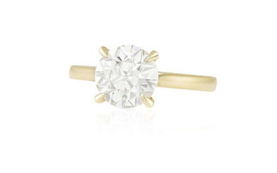 Description A DIAMOND SINGLE-STONE RING The round brilliant-cut diamond...