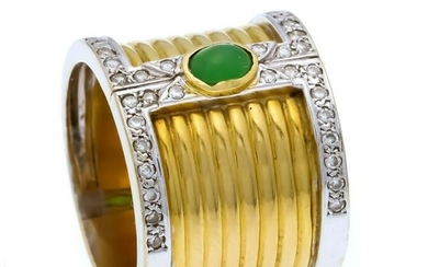 Emerald-brilliant ring GG