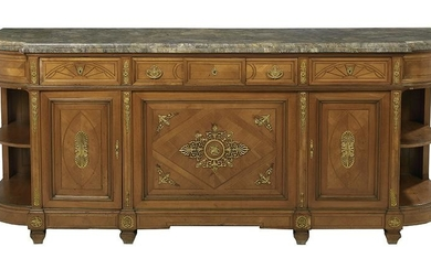Empire-Style Ormolu-Mounted Marble-Top Sideboard