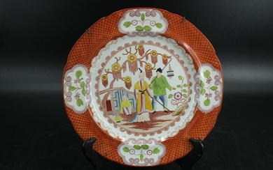 English 19th C. Hand Painted Porcelain Plate