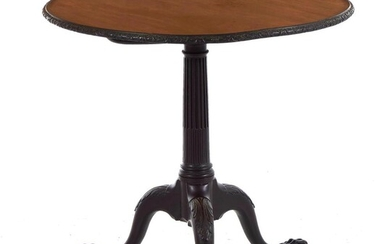 George III carved mahogany tilt-top tripod table
