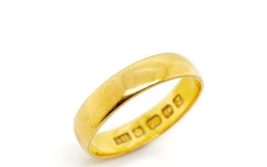 George V 22ct yellow gold ring marked 22ct Birmingham 1924 S...