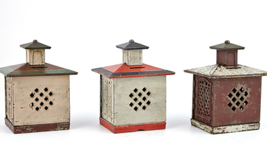 Group of Three Still Banks with Cupolas