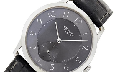 Hermès Gentleman's Stainless Steel 'Slim D' Wristwatch, Ref. CA2.810