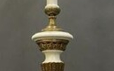 LARGE DORE BRONZE MOUNTED MARBLE LAMP