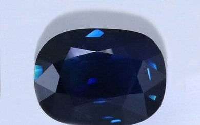 LOTUS Cert. 6.12 ct. BASALTIC Blue Sapphire - Untreated