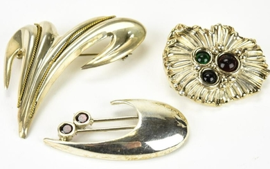 Lot of 3 Vintage Sterling Silver Pins