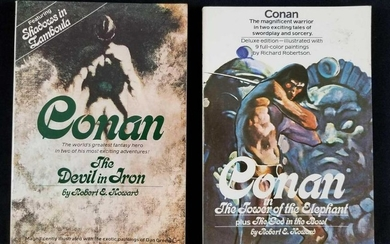 Lot of Two Conan Books by Robert E Howard