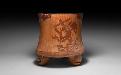 Mayan Vessel with Blood Ritual Scenes