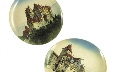 Mettlach, Villeroy and Boch, a pair of plaques