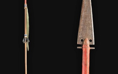 Mid-19th C. Plains Indians Wood & Iron Warrior Lance