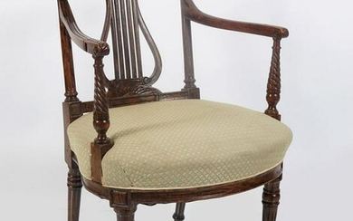 NINETEENTH-CENTURY GRAINED FAUX ROSEWOOD CHAIR