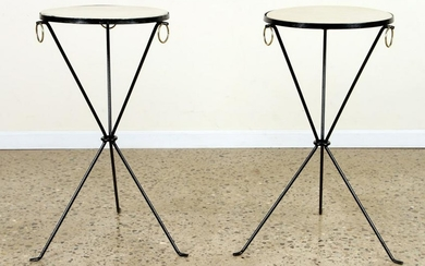PAIR DRINKS TABLES MANNER OF JEAN-MICHEL FRANK