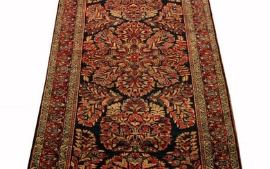 PERSIAN SAROUK, ANTIQUE HAND WOVEN WOOL RUG, C1910