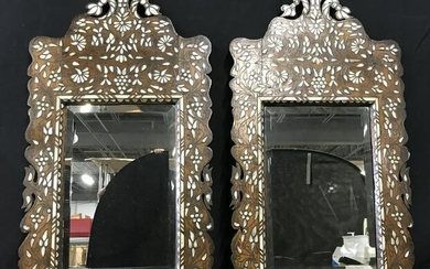 Pair Mother of Pearl Inlay Mirrors