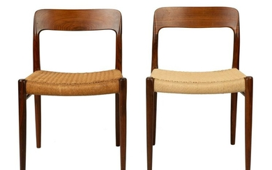 Pair of J.L. Møller Side Chairs