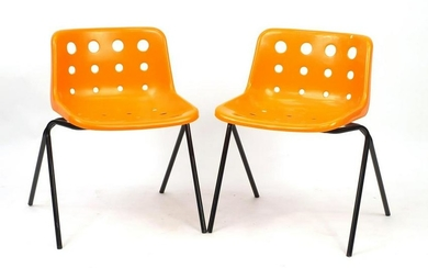 Pair of Robin Day design loft chairs, 70cm high