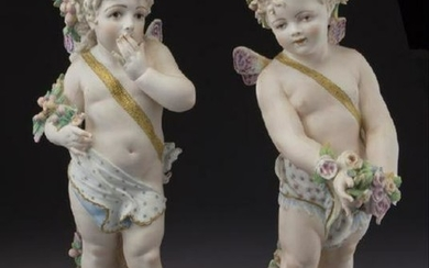 Porcelain Figures Depicting Draped Sprite