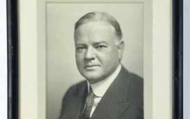 President Herbert Hoover Autographed Photo