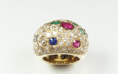 "Ring ""Jonc Bombé"" in 18K (750/oo) yellow gold,..."