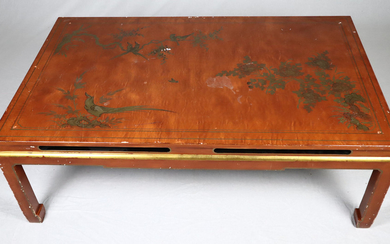 TABLE - China, 20th century, wood / chipboard.