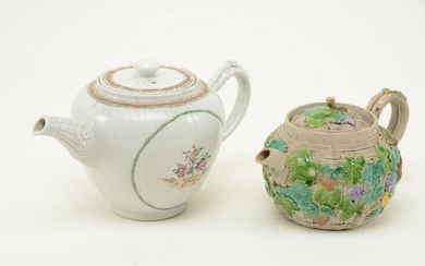 Two Chinese porcelain teapots. Export teapot with
