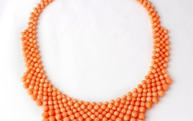 VTG Estate Angel Skin Pink Natural Coral Necklace
