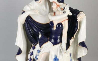 Very large French / Italian porcelain figure. 20th