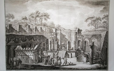 View of the Temple of Isis in the City of Pompeii