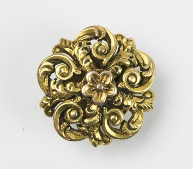 14k Victorian yellow gold button cover