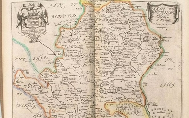 1673 Blome Map of Hartfodshire UK -- A Mapp of