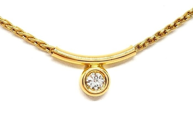 18 kt. Yellow gold - Necklace Diamond
