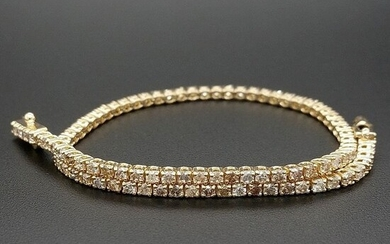 1.83ct Natural Fancy Mix Colors Diamonds - 14 kt. Yellow gold - Bracelet - ***No Reserve Price***