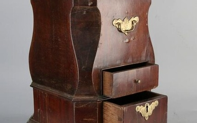 18th century mahogany tea stove with brass fittings and