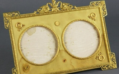 19th C. French Empire Gilt Bronze Picture Frame