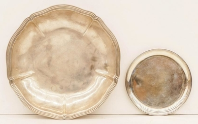 2pc Arthur Stone Sterling Bowl and Tray. Includes a