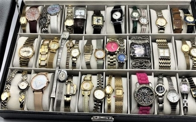 41 Assorted Wristwatches Incl. Gucci, Designer, Novelty