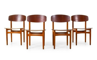 Borge Mogensen Set of Four Dining Chairs Soborg