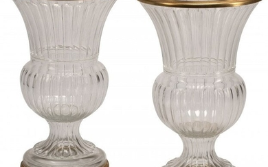 61043: A Pair of French Baccarat-Style Gilt Bronze Moun